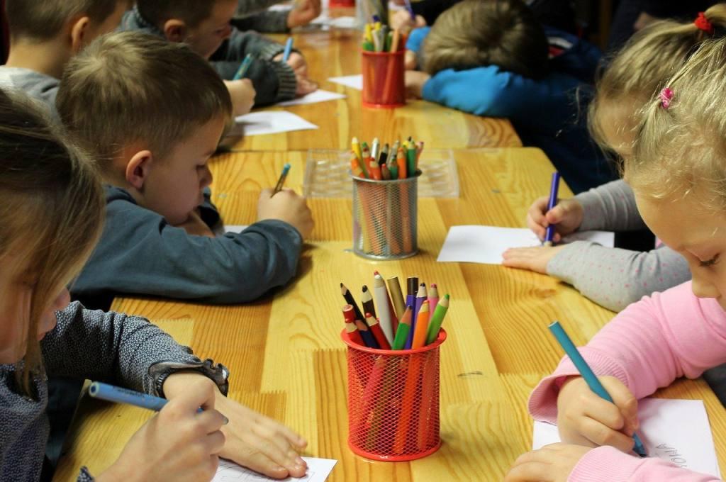 children, drawing, education